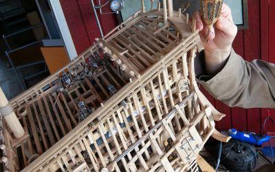 Uniek model van een zeventiende-eeuws schip